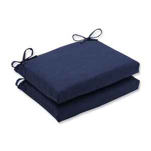 Outdoor / Indoor Rave Indigo Squared Corners Seat Cushion (Set of 2)