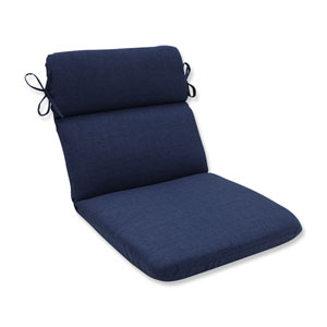 Outdoor / Indoor Rave Indigo Rounded Corners Chair Cushion