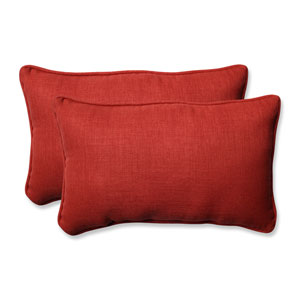 Outdoor / Indoor Rave Flame Rectangular Throw Pillow (Set of 2)
