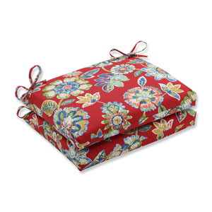 Outdoor / Indoor Daelyn Cherry Squared Corners Seat Cushion (Set of 2)
