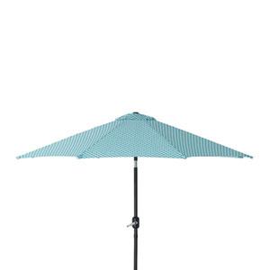 Outdoor / Indoor Hockley Teal 9-foot Patio Market Umbrella