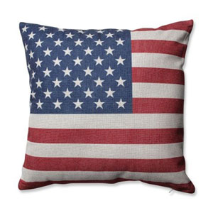 Stars and Stripes Patriot 16.5-Inch Throw Pillow