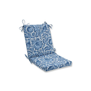 Tucker Resist Azure Blue Squared Corners Chair Cushion