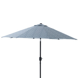 Herringbone Ink Blue 9-foot Patio Market Umbrella