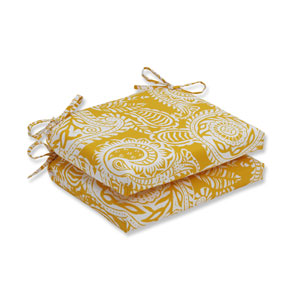 Outdoor / Indoor Addie Egg Yolk Squared Corners Seat Cushion (Set of 2)