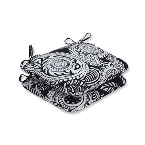 Outdoor / Indoor Addie Night Rounded Corners Seat Cushion (Set of 2)