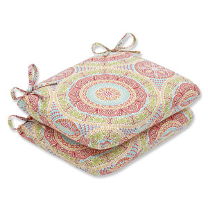 Outdoor / Indoor Delancey Jubilee Rounded Corners Seat Cushion (Set of 2)