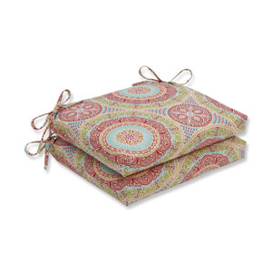 Outdoor / Indoor Delancey Jubilee Squared Corners Seat Cushion (Set of 2)