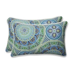Outdoor / Indoor Delancey Lagoon Rectangular Throw Pillow (Set of 2)