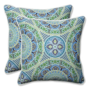 Outdoor / Indoor Delancey Lagoon 18.5-Inch Throw Pillow (Set of 2)