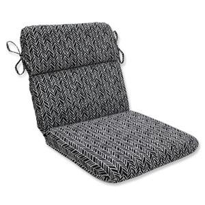 Outdoor / Indoor Herringbone Night Rounded Corners Chair Cushion