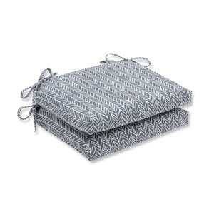 Outdoor / Indoor Herringbone Slate Squared Corners Seat Cushion (Set of 2)