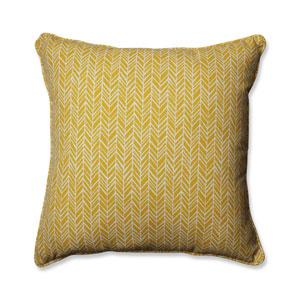 Outdoor / Indoor Herringbone Egg Yolk 25-Inch Floor Pillow