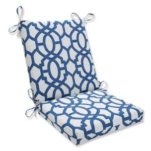 Outdoor / Indoor Nunu Geo Ink Blue Squared Corners Chair Cushion