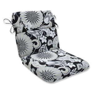 Outdoor / Indoor Sophia Graphite Rounded Corners Chair Cushion