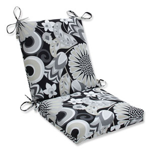 Outdoor / Indoor Sophia Graphite Squared Corners Chair Cushion