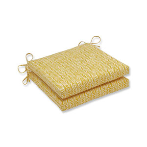 Outdoor / Indoor Herringbone Egg Yolk Squared Corners Seat Cushion 20x20x3 (Set of 2)