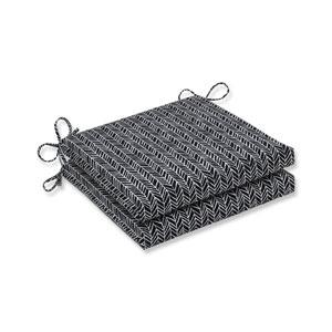 Outdoor / Indoor Herringbone Night Squared Corners Seat Cushion 20x20x3 (Set of 2)