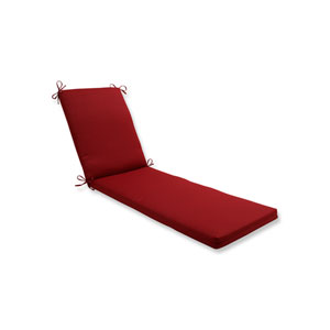 Pompeii Red Chaise Lounge Cushion