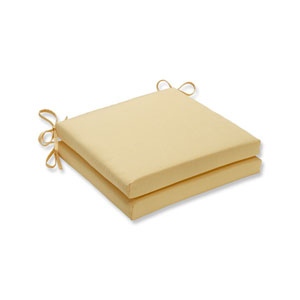 Canvas Buttercup Squared Corners Seat Cushion, Set of 2