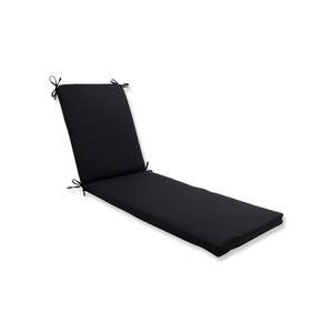 Fresco Black Chaise Lounge Cushion