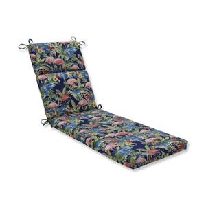 Flamingoing Lagoon Blue Chaise Lounge Cushion