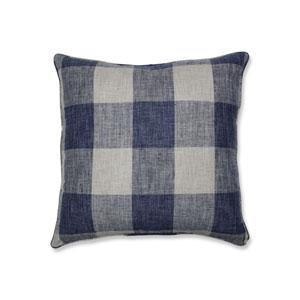 Indoor Check Please Lakeland Blue 25-Inch Floor Pillow