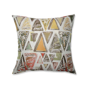 Pillow Perfect Indoor Triangle Tapestry Multi Green 24.5-inch Floor Pillow
