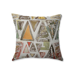 Indoor Triangle Tapestry Multi Green 18-Inch Throw Pillow