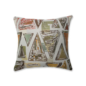 Indoor Triangle Tapestry Multi Green 16.5-Inch Throw Pillow
