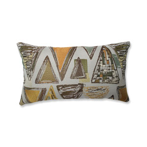 Indoor Triangle Tapestry Multi Green Rectangular Throw Pillow