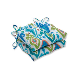 Paso Caribe Blue Reversible Chair Pad (Set of 2)