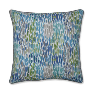 Make It Rain Cerulean Blue 25-Inch Floor Pillow