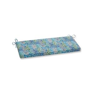 Make It Rain Cerulean Blue Bench Cushion