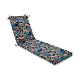 Flamingoing Lagoon Blue Chaise Lounge Cushion 80x23x3