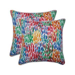 Make It Rain Zinnia Blue 18.5-Inch Throw Pillow (Set of 2)
