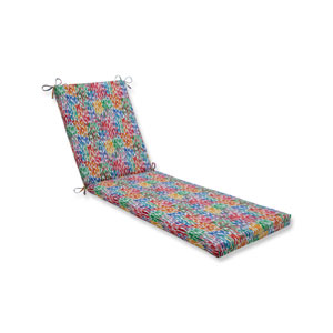 Make It Rain Zinnia Blue Chaise Lounge Cushion 80x23x3