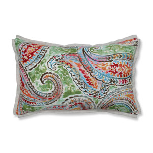 Indoor Bright and Lively Fiesta Rectangular Throw Pillow
