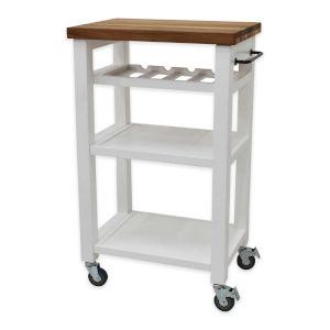 Belden White Kitchen Cart