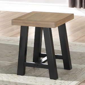 Burnell Waxed Honey And Ebony 16-Inch Stool