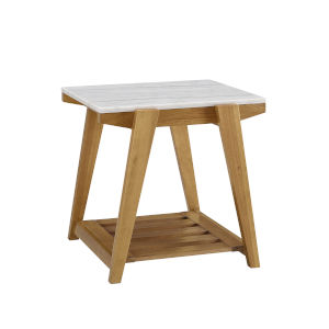 Celeste White And Natural 24-Inch End Table