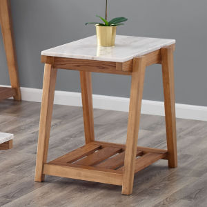 Celeste White And Natural 26-Inch End Table