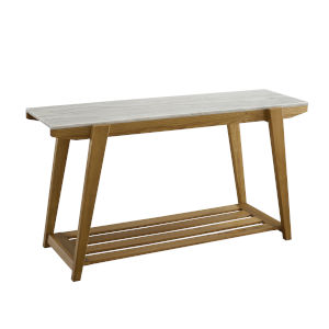 Celeste White And Natural 19-Inch Sofa Table