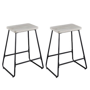 Carson Driftwood and Silver Counter Stool