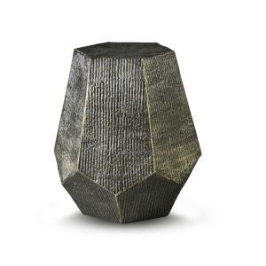 Donato Brass Hexagon End Table