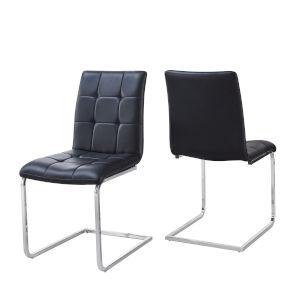 Escondido Black and Chrome Side Chair, Set of 2