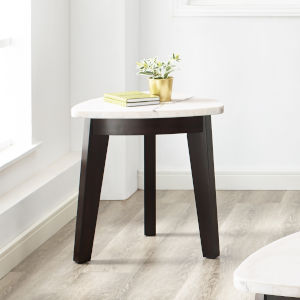 Francis White And Ebony 22-Inch End Table