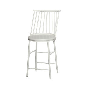 Frida White 19-Inch Counter Chair