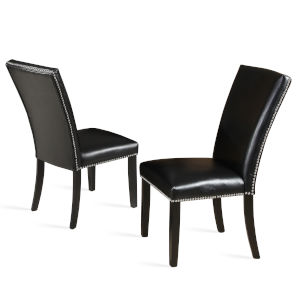Finley Black 28-Inch Side Chair, Set of 2