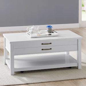 Frisco Weathered White Cocktail Table